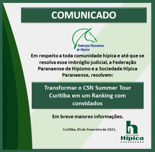 Comunicado 1 - Copa Curitiba
